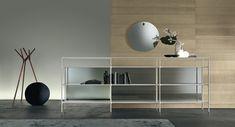 #rimadesio wind #bookcase in glass and alu.