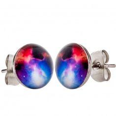 Nebula Men's Stud Earrings by Urban Male Men's Jewellery