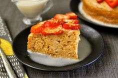Tres Leches cake that has been soaked in three vegan milks thanks to Nature's Charm new vegan condensed and evaporated milk.