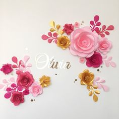 Nursery Paper Flowers Paper Flowers over the Cribs by MioPaperArt