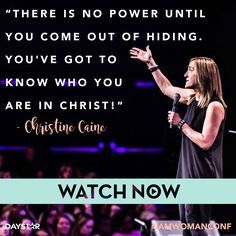 Christine Caine at Faith Church's I Am Woman Conference 2017 on Daystar