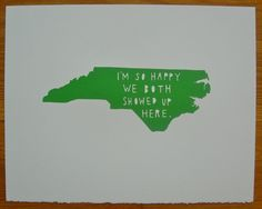 Yes, I love North Carolina and I am glad my husband and I met here and now live here! :))