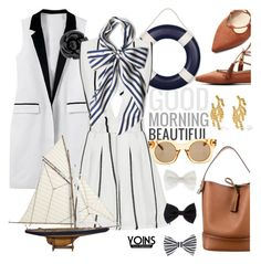 """""""Go sailing with yoins"""" by pensivepeacock ❤ liked on Polyvore featuring Arme De L'Amour, Chanel, Louis Vuitton, Authentic Models, Accessorize, Esther Williams, Marc Jacobs and MustHave"""