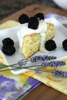 Lemon Lavender Scones with Whipped Cream and Berries
