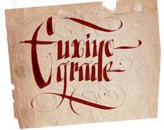 A thicker italic with flourish