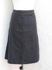 J. Crew size 14 dark gray wool pin striped career work suit skirt NWOT