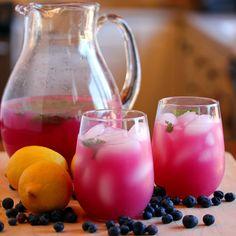 Blueberry Mint Lemonade on MyRecipeMagic.com