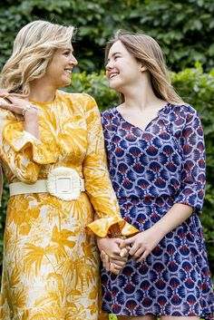 Queen Maxima, Lily Pulitzer, Dresses With Sleeves, Long Sleeve, Royals, Dutch, Children, Summer, Fashion