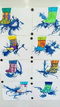 The Effective Pictures We Offer You About kindergarten art projects march A quality picture can tell Spring Art, Spring Crafts, Art For Kids, Crafts For Kids, Arts And Crafts, Art 2nd Grade, Grade 2, Classe D'art, Weather Art