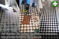 Our client in Rotherham had decided to install a new floor in their hallway and after removing many layers of old floor coverings discovered a layer of self-levelling compound underneath. After deciding to chip some of this away they discovered what appeared to be an original Victorian tiled floor. Realising that original features like these are very desirable they decided to call in Tile Doctor to see if it could be restored.