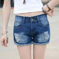 Shorts Jeans Hollow Out Ripped