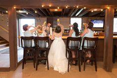Bride + bridesmaid at the bar photo idea