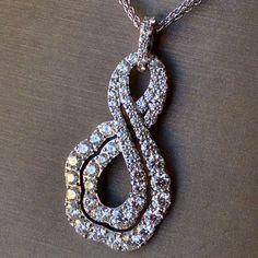 "Hearts on Fire ""Lorelei"" 2.06 Carats Diamond Infinity Pendant"