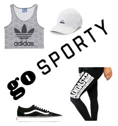 """go sporty"" by proste-jaa on Polyvore featuring adidas Originals, adidas and Vans"