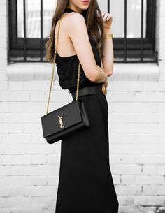 Work or play, it's hard to go wrong with a classic black jumpsuit. Shop our favourite styles below! Ysl Crossbody Bag, Ysl Bag, Designer Crossbody Bags, Ysl Black Bag, Ysl Handbags, Fashion Handbags, Fashion Bags, New York Fashion, Paris Fashion