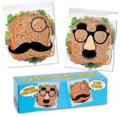 Even your lunch can join in this Movemeber! Shop now at www.ShopTheShoppingBag.com  #Movember #NoShave #Mustache