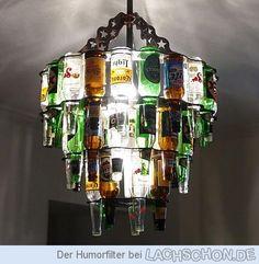 Flaschenleuchter - kronleuchter,kreativ,flaschen,lampe,licht