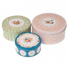 3 cajas metálicas tea party