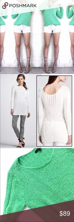 Rachel Zoe knit sweater The perfect knit sweater! Very transitional! Wear it to the beach or layer it for the winter months. Like new! No trades. Open to offers Rachel Roy Sweaters