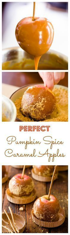 Pumpkin spice caramel apples
