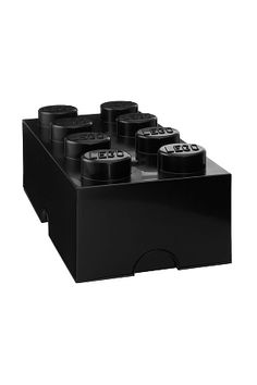 Buy LEGO: Storage Brick 8 - Black online and save! LEGO Storage Brick 8 Box – stackable storage for home or office. Remember when you used to keep your toys, treasures, hobby supplies, tools, CDs and . Lego Storage Boxes, Lego Storage Brick, Lego Boxes, Lego Brick, Toy Storage, Toy Boxes, Storage Ideas, Lego Moc, Lego Robot