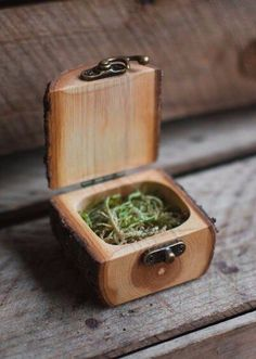 Natural Log Ring Box — Jaccob McKay Studios *Made to order*A gift box handmade from tree branches with antiqued brass hinge and latch.All wood is from sustainable sources, mostly residential properties and branches fallen in storms…. Woodworking Basics, Woodworking Projects Diy, Wood Projects, Woodworking Plans, Woodworking Supplies, Woodworking Shop, Woodworking Furniture, Green Woodworking, Workbench Plans