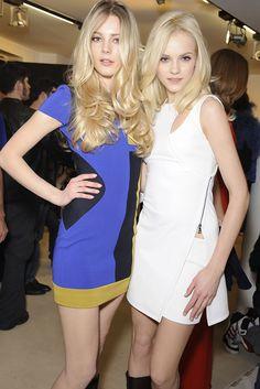 Versace Fall 2010 Ready-to-Wear - Ieva Laguna and Ginta Lapina.