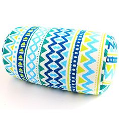 Microbead Bolster Roll Pillow 7 x 12 Comfort Head Neck Back Waist Leg Support Outdoor Travel Home Office Chair Car Seat Cushion Blue Wave * Check out this great product. (This is an affiliate link) #CarSeatArmRest