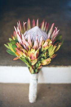 Brides DIY King Protea bouquet http://www.kikitography.com/project/dirk_and_ulrike/