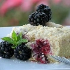 "Easy Platz (Coffee Cake) | ""A delicious light fruit cake, to go with a good cup of Java! Or serve as a dessert!"""