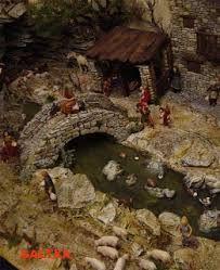 Resultado de imagen para pesebres navideños con fuentes de agua