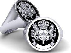 Custom Made Family Crest Signet Ring