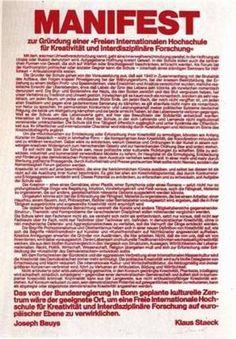 Joseph Beuys Manifest (1979) Grafik bei Germanposters.de