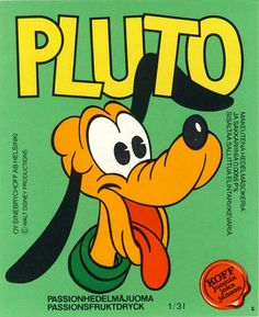 Pluto limsa, Finland Good Old Times, Retro Design, Finland, Childhood Memories, Retro Vintage, Nostalgia, Old Things, History, Disney Characters