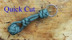 Paracord Tips - Attach A Two Strand Monkey Fist to A Keyring - Quick Cut