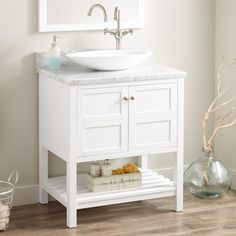 "30""+Everett+Vessel+Sink+Vanity+-+White"