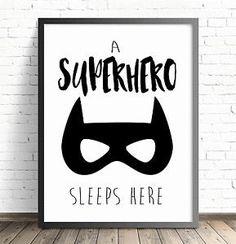 A4 Nursery Bedroom Decor Wall ART Print Baby Children Batman Superhero   eBay