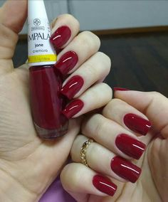 Up To Date With These Great Designs for Red Nails – My hair and beauty Love Nails, Red Nails, Pretty Nails, Luxury Nails, Elegant Nails, Classy Nails, Super Nails, Fall Nail Designs, Nagel Gel