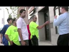 MUSLIMS ATTACK CHRISTIANS IN AMERICA OVER SHARIA LAW....MUST WATCH.  THESE GUYS ASKED LEGITIMATE QEUSTIONS, AND WERE ASSULTED BY MUSLIM SECURITY.