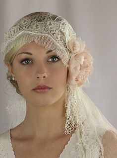 Items similar to Juliet Bridal Cap, bridal veil, wedding hair piece, silk veil, Chantilly Lace - style 740 on Etsy Chantilly Lace, Wedding Veils, Wedding Dresses, Wedding Bride, Gatsby Wedding, Boho Wedding, Bride Veil, Wedding Ideas, Vintage Outfits