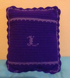 Crochet Pillow cushion with initial