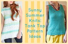 Sunny Summer Knits: 16 Tank Top Pattern Ideas | AllFreeKnitting.com