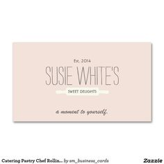 Catering Pastry Chef Rolling Pin Cute Retro Bakers Double-Sided Standard Business Cards (Pack Of 100)