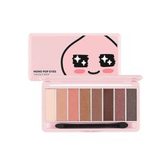 The Face Shop Kakao Friends Mono Pop Eyes 02 LOVELY APEACH 8 Color Eye Shadow Palette Cute * Click image for more details.