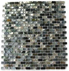 Deep Sea Black Mini Brick Pattern Tile $44.50.  Accent tile for one of the bathroom renos?