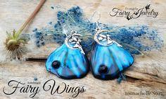 Orecchini -Ali di Fata- S925 blu nero luna notte, by Evangela Fairy Jewelry, 15,00 € su misshobby.com