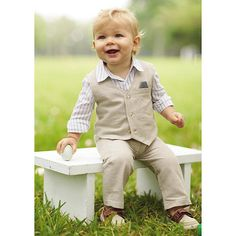 This Koala Baby Boutique boys 3 piece pant set is an updated classic. #BRUSpring