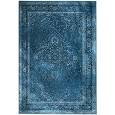Tapis vintage Rugged bleu DRAWER