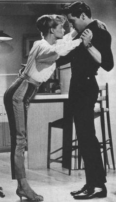 Elvis Presley and Laurel Goodwin  | One filmed sequence in Girls! Girls! Girls! might have made a distinct impression on Laurel Goodwin, but if so, she was discreet enough not to mention it in public through the years. Thus Laurel Goodwin participated in what may be the most bizarre scene in all of Presley's 31 Hollywood films.