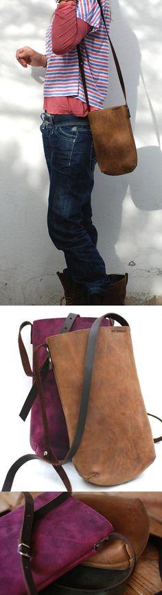 Leather handbag designed by JustWanderlust. by JustWanderlustShop, $125.00